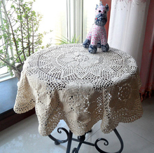 Hand Crochet openwork Cotton Tablecloths drape Round Diameter 100CM Coffee Table cloth Furniture Cover cloth Cotton Doilies