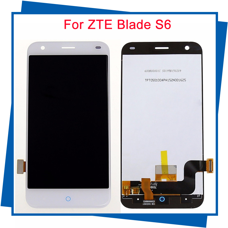 For ZTE Blade S6 Lcd display Touch Screen High Quality 5.0inch replacement for ZTE Blade S6 smartphone Cellphone white<br><br>Aliexpress