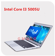13.3inch aluminium ultrabook laptop In-tel Core I3 5005U, 1920*1080 HD screen & 4GB RAM +128GB SSD, Windows 8 backlit notbook(China)