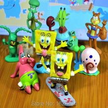 8pcs/set Bob Esponja Toy Doll Sponge Bob PVC Figures Mini Model Spongebob Anime Cheap Action Figures Kids Toys For Boys Gift
