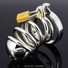 Buy Top Quality Stainless Steel Male Chastity Cage, Metal Cock Cage Chastity Belt, Penis Rings Device Adult Sex Toys Sex Product