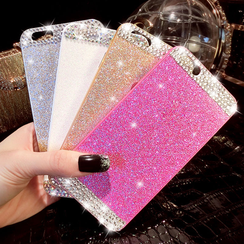 New Hot Fashion Luxury Diamond Case For iphone 6 4.7 inch Phone Cases Back Cover For apple iphone 6S case accessories(China (Mainland))