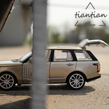CAIPO 1:32 simulation Mini Land Rove Range Rover SUV Die-cast metal Alloy car model kids toys Gift Package Decoration(China)
