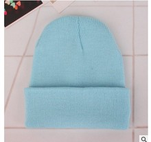 Autumn & Winter Korean Casual Set Head Beanies Gray Blue Black White Red Elastic Warm Wool Hats Men Women Couple Knit Caps(China)