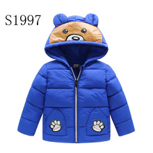 Ultra Light Children Winter Jackets 2017 New Brand Baby Boy Jacket Girls Outwear Parkas Hooded Coat High Quality 2-8 Years