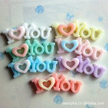 The latest mobile phone accessories accessories diy mobile beauty accessories ILOVEYOU material resin letter
