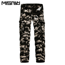 MISNIKI 2017 Spring New Cotton Cargo Pants Men Multi-pocket Casual Slim Camouflage Trousers Men(Asian Size 29-40)
