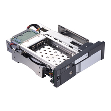 Uneatop Silver panel Aluminum 2.5in SATA hard disk case and 3.5 mobile rack adapter to 5.25 internal hdd enclodure