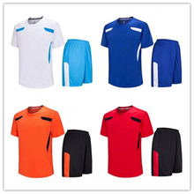 blue cheap blank football traning jersey top camisas de futebol soccer jerseys suits 2016 2017 football uniforms LD-5007(China)
