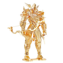WMX Super Cool P072-G Knight Of Firmament Solider DIY 3D Metal Puzzle Kits Laser Cut Models Jigsaw Toys For Audit(China)