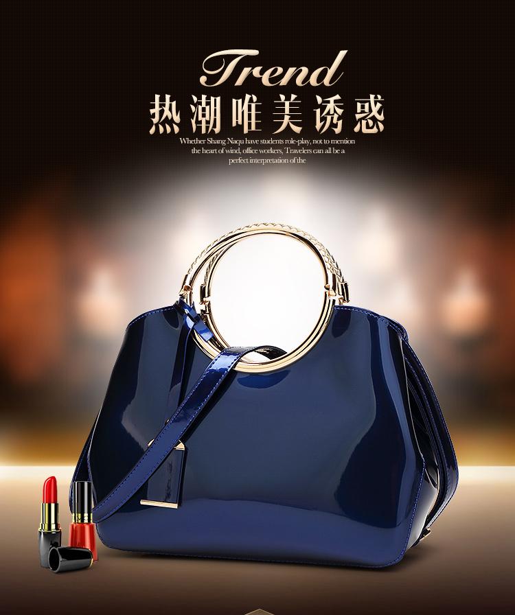 New High Quality Patent Leather Women bag Ladies Cross Body messenger Shoulder Bags Handbags Women Famous Brands bolsa feminina (1)