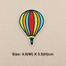 1pcs rainbow hot air balloon sticker strips iron on patches for clothing iron-on transfers patches pomade