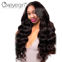 Oxeye girl Brazilian Body Wave Pre Plucked Full Lace Human Hair Wigs With Baby Hair Natural Black Non Remy Hair Wigs For Woman(China)