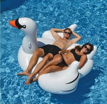 Genuine oversized swan design water sofa inflatable swimming floating,row floating bed adult swim chair, lounge relax on water