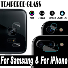 Camera Lens Protective Protector Guard Cover Tempered Glass Film For iPhone 7 6 6S Plus Samsung Galaxy Note 5 S8 S7 S6 Edge Plus