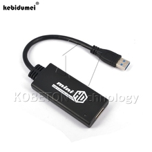kebidumei High speed HD USB 3.0 To HDMI Male to Female HD 1080P Video Cable Adapter Converter For PC Laptop(China)