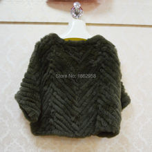 SJ497-02 Cheap Mexico Dropping Selling Fashion Rabbit Shawl Coat Fur