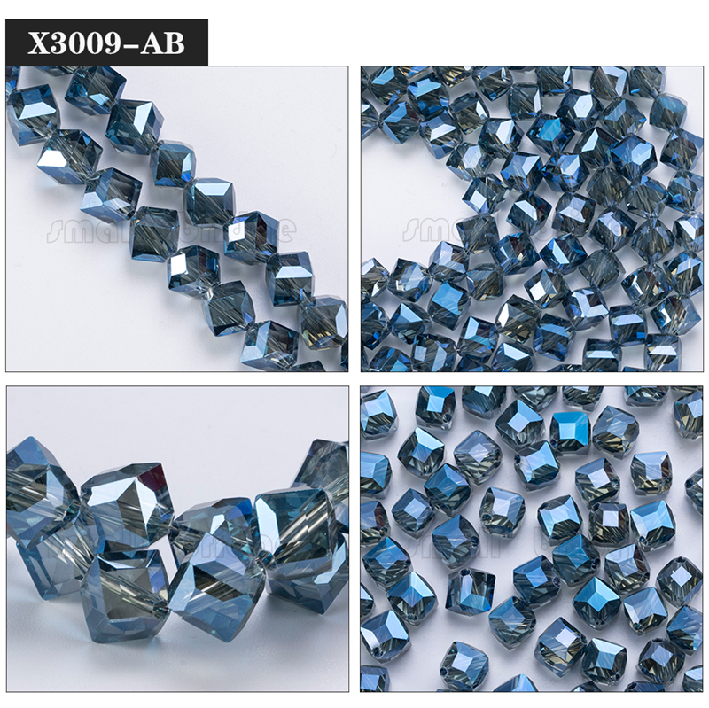 Square Glass Beads (10)