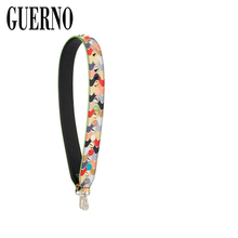 GUERNO New fashion women handbag strap spike and rivet design lady fashion bag part super hot stylish bag belt bags accessories