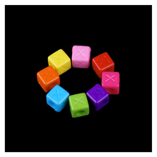 Multi Color Acrylic Big Hole Square Alphabet Beads 200pcs/Lot Wholesale Hot Small Letters Indian Bead For Kid DIY Jewelry Making