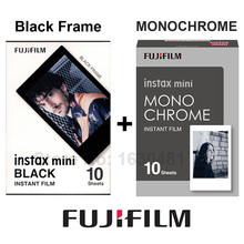 Genuine Fujifilm Fuji Instax Mini Film Monochrome Mono + Black Film for Mini 8 70 8 Plus 90 25 Camera SP-1 SP-2 Plus Free Gift