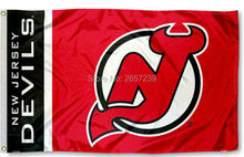 New Jersey Devils logo wordmark  Flag 3x5FT NHL Team banner150X90CM 100D  Polyester  brass grommets custom flag, Free Shipping