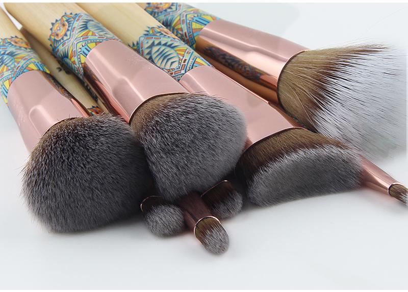 Anmor Marque Nouvelle Arrivée 12 pièces Synthétique Maquillage Pinceaux avec Unique Design Noir Sac Pinceaux Professionnels pour le Maquillage 7