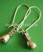 HOT Wholesale 10 Pair Fashion Ancient Silver Purse Charms Dangle Earrings For Women With Gift Box DIY Findings Jewelry Z63