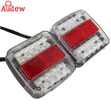 2Pcs 12V 26 LED Taillight Turn Signal Light Rear Brake Stop Light Number License Plate Lamp For Car Truck Trailer E-Marked(China)