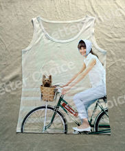 Track Ship+Vintage Printed Retro Cool Vest Tanks Tank Tops Camis I Love Riding Bicycle Cycle with My Yorkshire Dog Hepburn 0028