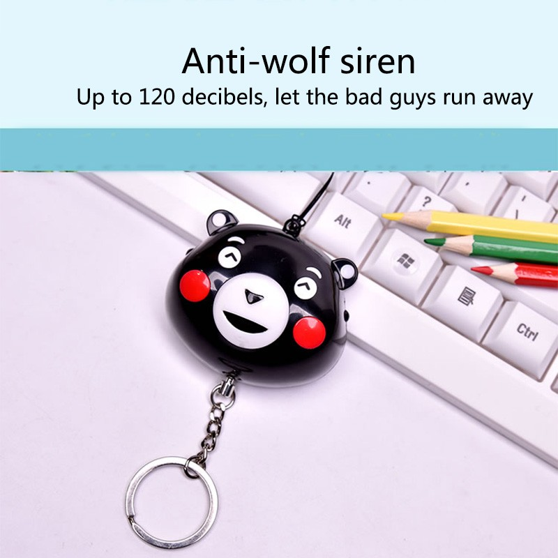 Personal Alarm Emergency Safety Gear with LED Light Keychain for Kids Women