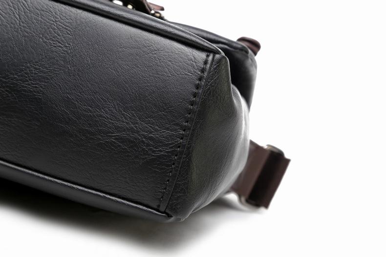 MJ Men\`s Bags Vintage PU Leather Male Messenger Bag High Quality Leather Crossbody Flap Bag Versatile Shoulder Handbag for Men (22)