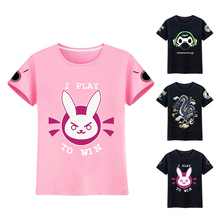New Design Women D.va T-shirt Women Dva T-shirt Ladies Lucio D va Short Sleeve T-shirt Hana Song T Shirt Lucio Summer Tees