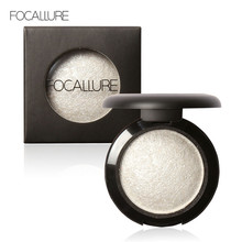 Wholesale Single Baked Eye Shadow Palette Shimmer Metallic Glitter Cream Powder Makeup Eyeshadow Palette by Focallure 12 colors
