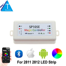 Buy SP105E Magic Controller Bluetooth 4.0 DC5-24V 2048 Pixels WS2811 2812 2801 6803 IC LED Strip Support IOS / Android APP for $11.25 in AliExpress store