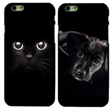 Black Cat & Dog Pattern Hard Protective Back Case For iPhone 4 4S 5 5S SE 5c 6 6S Fundas Phone Cover Capa Coque