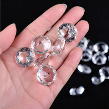 50pcs Crystal Diamond Glass Crafts Home Wedding Party Decoration Ornaments DIY Jewerly Decor Figurines Miniature Gifts Souvenir