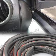 3M 120INCH Length Air Sealed Self Adhesion Double D Shape Hollow 9MM Black Car Auto Door Edge Rubber Seal Strip Weatherstrip