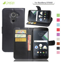 Limelan For BlackBerry DTEK60 , Luxury Litchi Wallet PU Leather Phone Case for Black Berry DTEK60 Cover Fundas Coque Capa