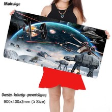 Mairuige 900*400cm Laptop Gaming Mouse Pad Locking Edge Star War Mousepad Mat for LOL Dota2 CS Mouse Mice Pad for Game Player(China)