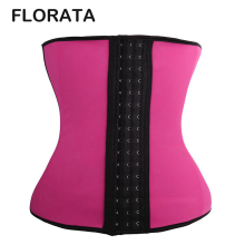 FLORATA Firm Reduce Belt Slimming Corset Latex Rubber Waist Trainer Corset Shapewear Fajas Hot Tummy Trimmer Waist Cincher