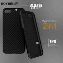 iPh 7 Roybens New Environmental Fiber Case For iPhone 7 Soft Texture Fiber Carbon TPU Rubber Skin Cover For iPhone 7 6 6S Plus