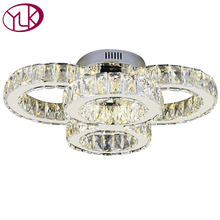 Crystal modern led ceiling lights for living room bedroom Circle Rings Cristals Indoor light Led Modern Ceiling Lamp Fixtures