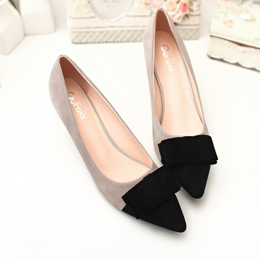 2017 Vintage Sexy Pointed Toe High Heels Women Heeled Shoes Fashion Womens Pumps Brand Ladies Bowknot Middle Heels 5cm<br><br>Aliexpress
