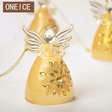 ONEICE Creative Handmade Stained Glass Angel Home Decoration Crafts Car Ornaments Birthday Gifts Christmas Free Shipping Wedding