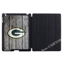 Green Bay Packers Football League Stand Folio Cover Case For Apple iPad Mini 1 2 3 4 Air Pro 9.7Wake Sleep(China)