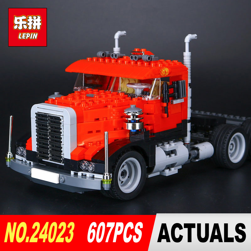 LEPIN 24023 Technic Series Classic distorted creative truck tractor toy 607Pcs Building Blocks Bricks Education Model Toys 4955<br>