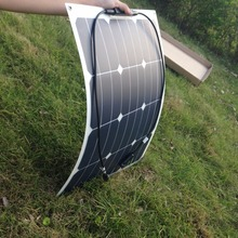 1PCS Sunpower flexible solar panel 12V 40w; monocrystalline semi flexible solar panel 40w; solar cell 22.2% charging efficiency