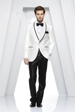 Custom Made Groom Tuxedos One Button Groomsmen Shawl Lapel Men Wedding Suits Best Mens Suit (Jacket+Pants+Tie+Girdle) B616