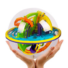 158 Steps 3D Magic Intellect Ball Marble Puzzle Game perplexus magnetic balls IQ Balance toy Educational classic toys Maze Ball(China)